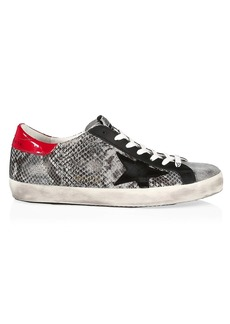 Golden Goose Super-Star Python-Print Leather Sneakers