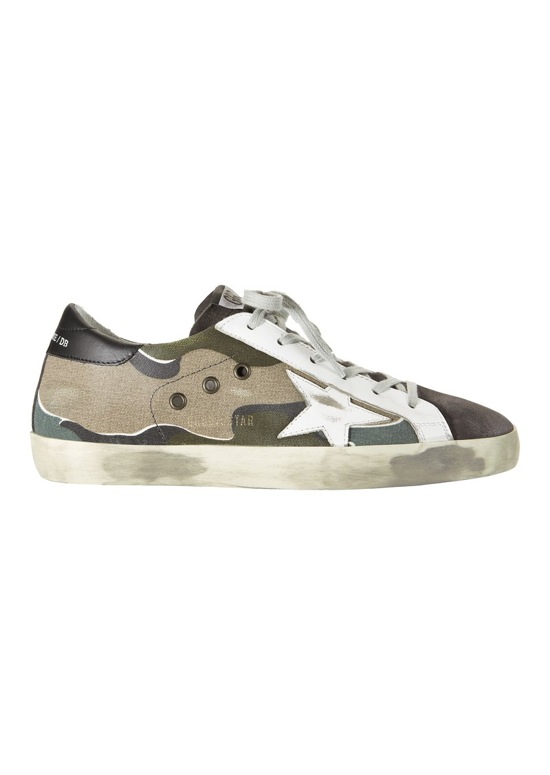 5da3236f0ef30 Golden Goose Superstar Camo Canvas Sneakers | Shoes