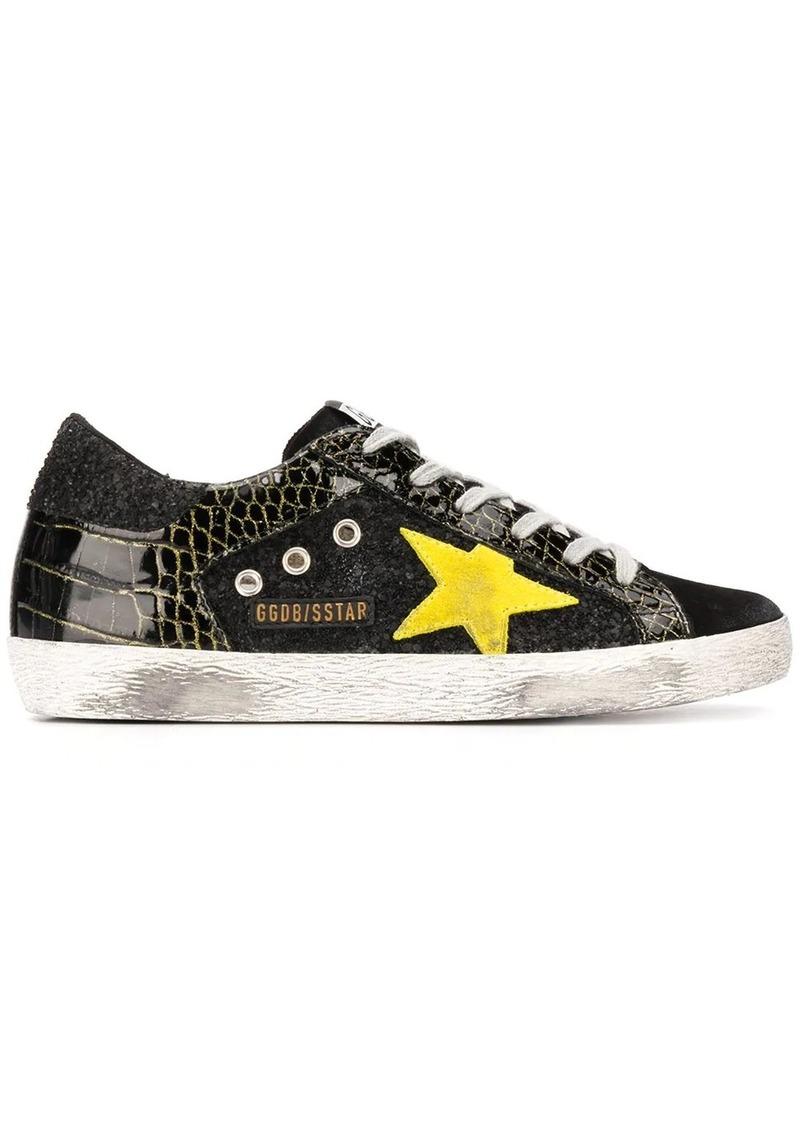 Golden Goose Superstar crocodile-print sneakers