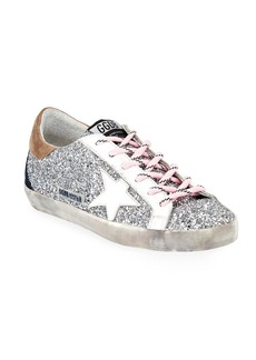 Golden Goose Superstar Glitter Lace-Up Sneakers