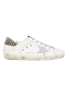 Golden Goose Superstar Glitter Zebra Low-Top Sneakers