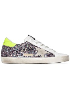 Golden Goose Superstar glittered leather sneakers