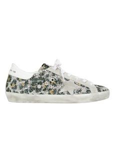 Golden Goose Superstar Leopard Glitter Low Top Sneakers