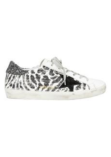 Golden Goose Superstar Leopard Print Low-Top Sneakers