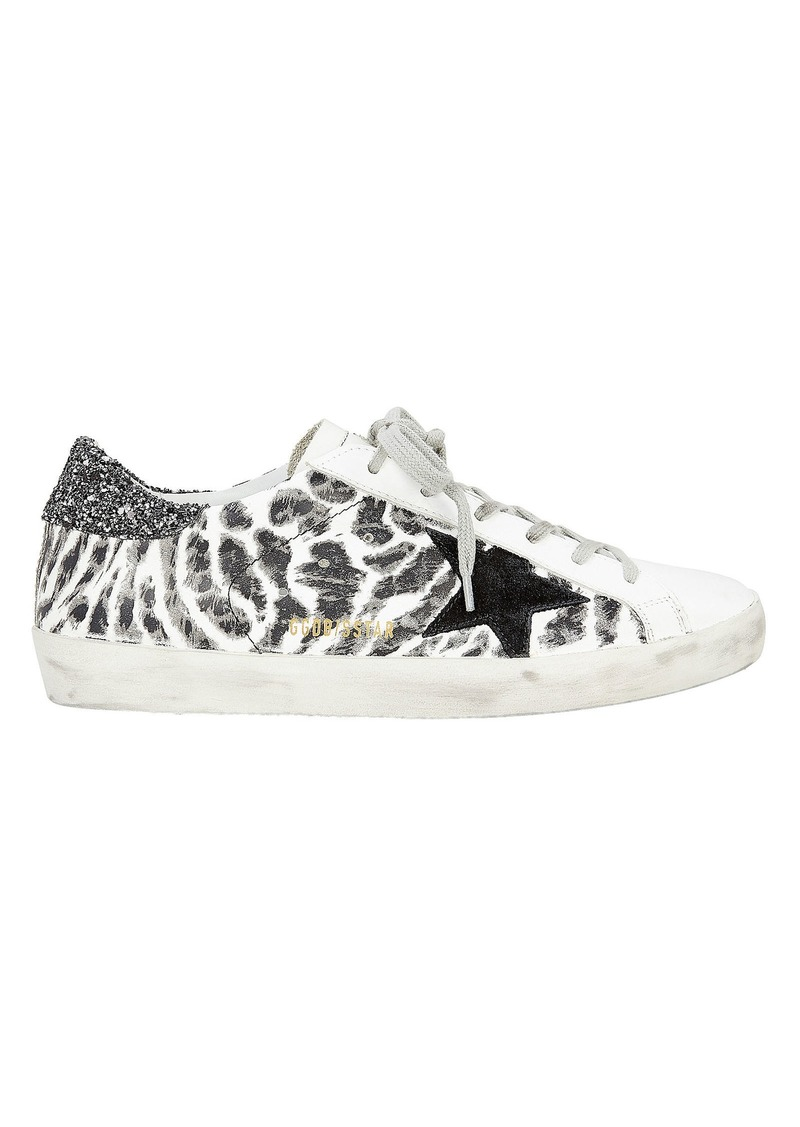 ced2b65b40953 Golden Goose Superstar Leopard Print Low-Top Sneakers | Shoes