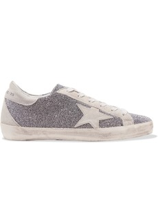Golden Goose Superstar Swarovski Crystal-embellished Distressed Suede Sneakers