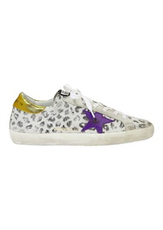 Golden Goose Superstar White Leopard Sneakers