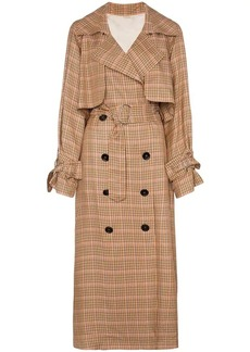 Golden Goose Vela checked and belted trench coat