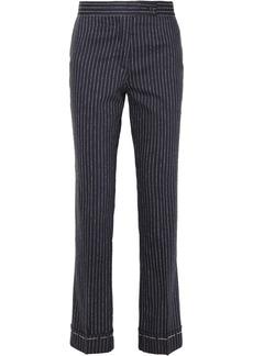 Golden Goose Venice Pinstriped Wool And Silk-blend Slim-leg Pants