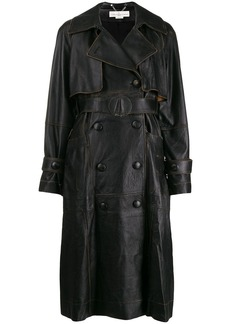 Golden Goose vintage style leather coat