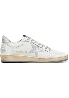 Golden Goose white Ball leather low-top sneakers