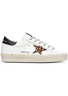 Golden Goose white Leo Star leather sneakers