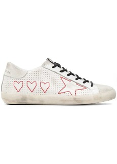 Golden Goose White Superstar Perforated Leather Sneakers