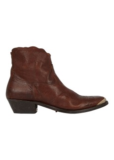 Golden Goose Young Leather Western Booties