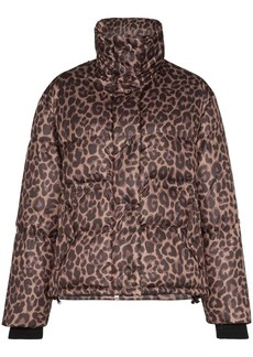 Golden Goose Yuri leopard-print padded jacket