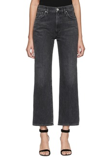 Goldsign Black Cropped High-Rise Jeans