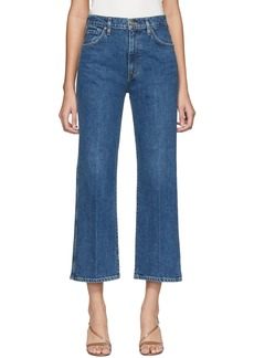 Goldsign Blue Cropped High Rise Jeans