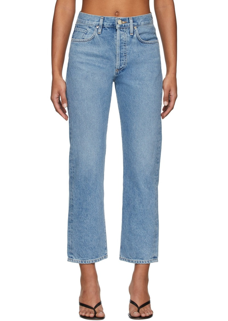 Goldsign Blue 'The Relaxed Straight' Jeans