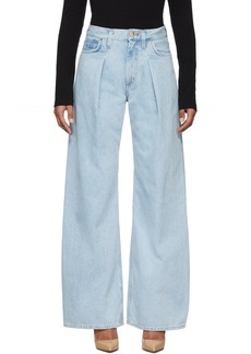 Goldsign Blue 'The Wide Leg' Jeans