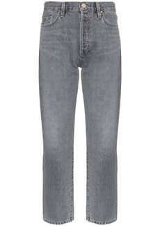 Goldsign cropped straight leg jeans