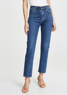 GOLDSIGN Benefit High Rise Relaxed Straight Jeans