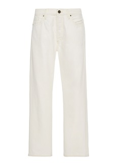 Goldsign Benefit Stretch High-Rise Straight-Leg Jeans