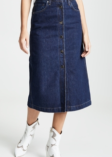 GOLDSIGN Easton The Button Front Skirt