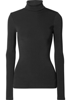 Goldsign The Rib stretch cotton-blend turtleneck top