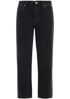 Goldsign Woman The Low Slung Cropped Mid-rise Straight-leg Jeans Black
