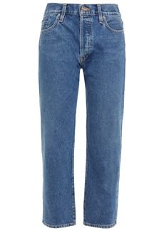 Goldsign Woman The Low Slung Cropped Mid-rise Straight-leg Jeans Mid Denim