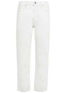 Goldsign Woman The Relaxed Straight Cropped Mid-rise Straight-leg Jeans Light Denim