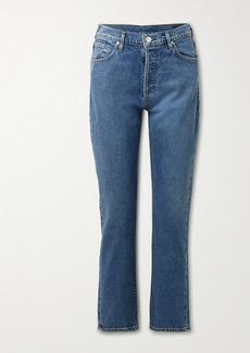 Goldsign Net Sustain High-rise Straight-leg Jeans