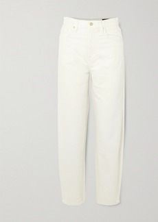 Goldsign Net Sustain The Curved Cropped High-rise Tapered Jeans