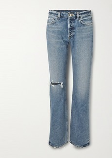 Goldsign Nineties Distressed High-rise Bootcut Jeans