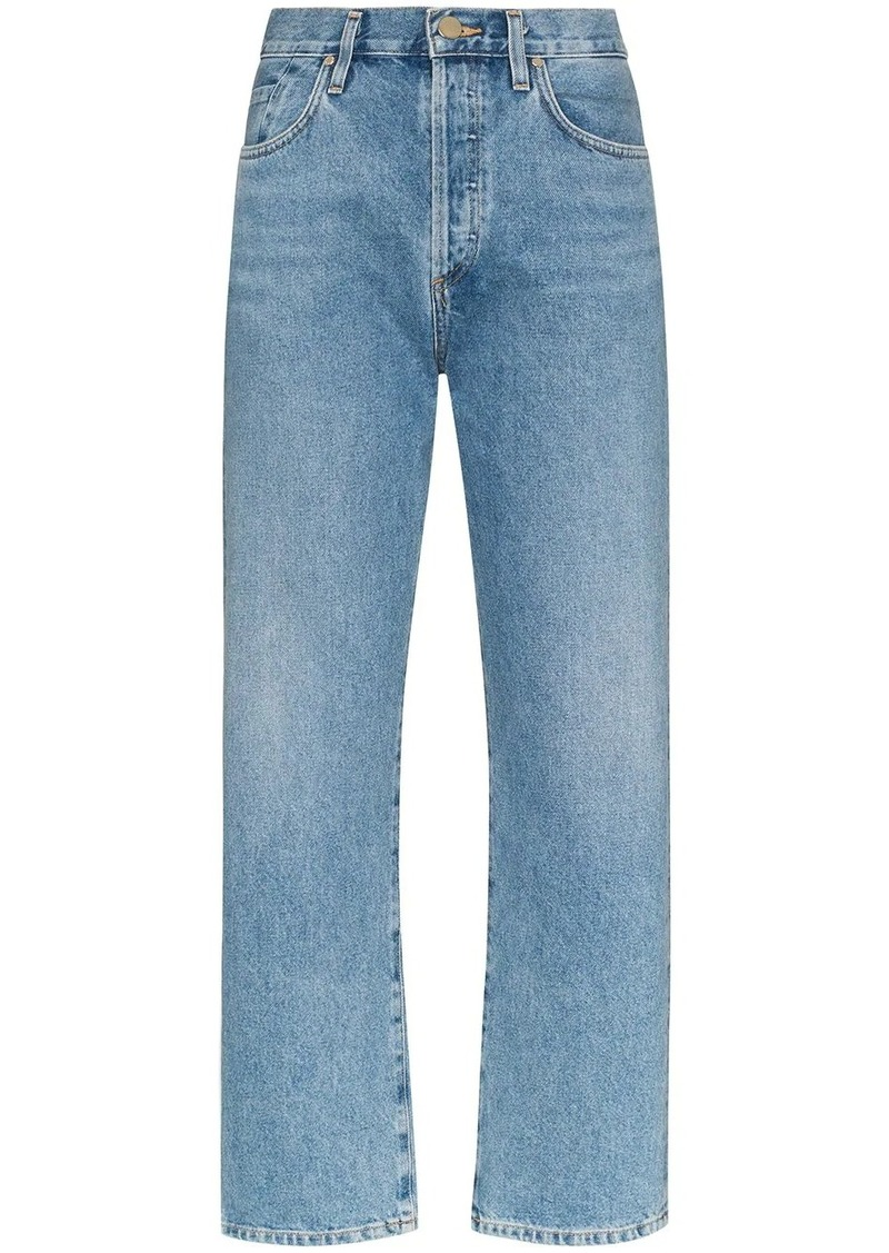 Goldsign high-rise straight leg jeans