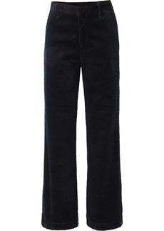 Goldsign The Flat Front Cotton-corduroy Wide-leg Pants