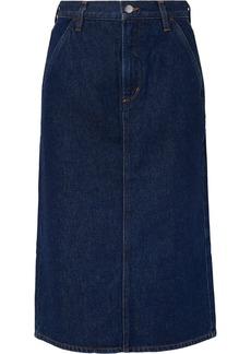 Goldsign The Flat Front Denim Pencil Skirt