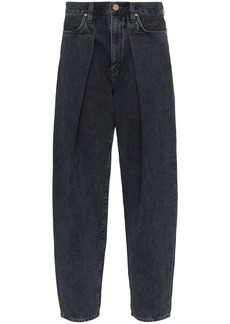 Goldsign The Pleat Curve tapered jeans