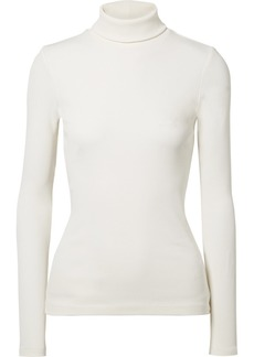 Goldsign The Rib Stretch Cotton-blend Turtleneck Top