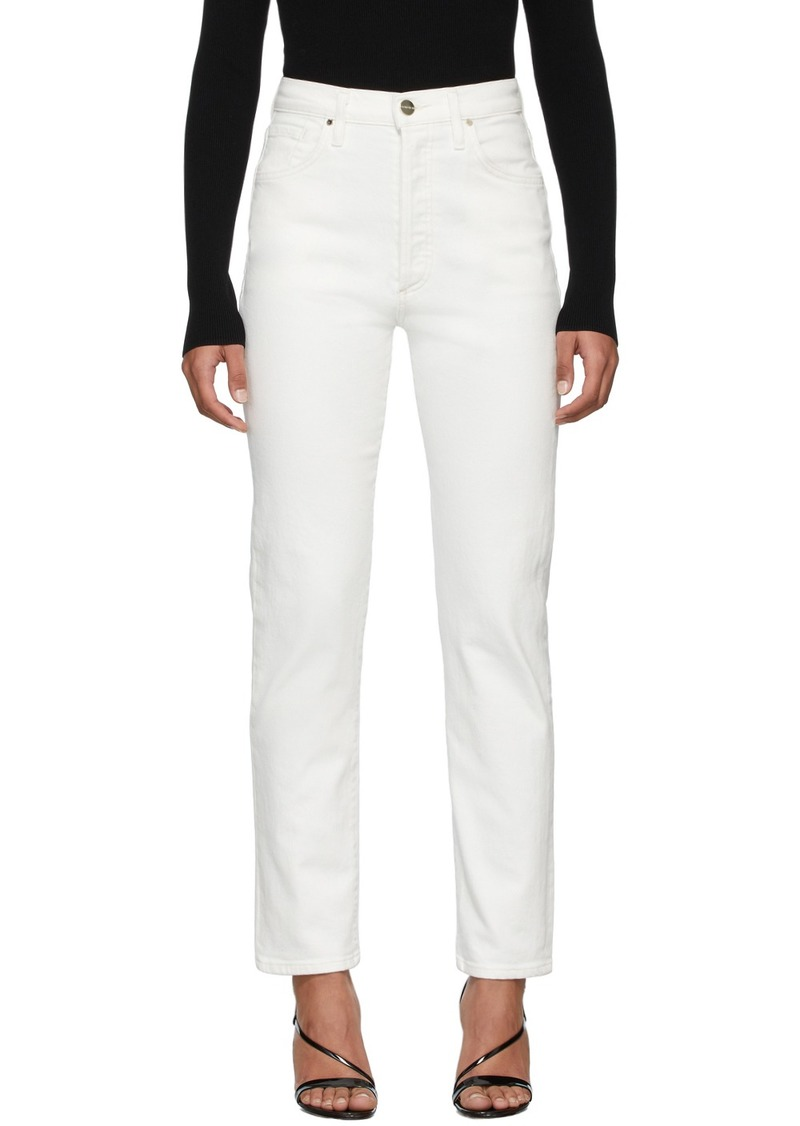 Goldsign White 'The Benefit' Jeans