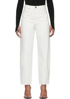 Goldsign White 'The Curved' Jeans