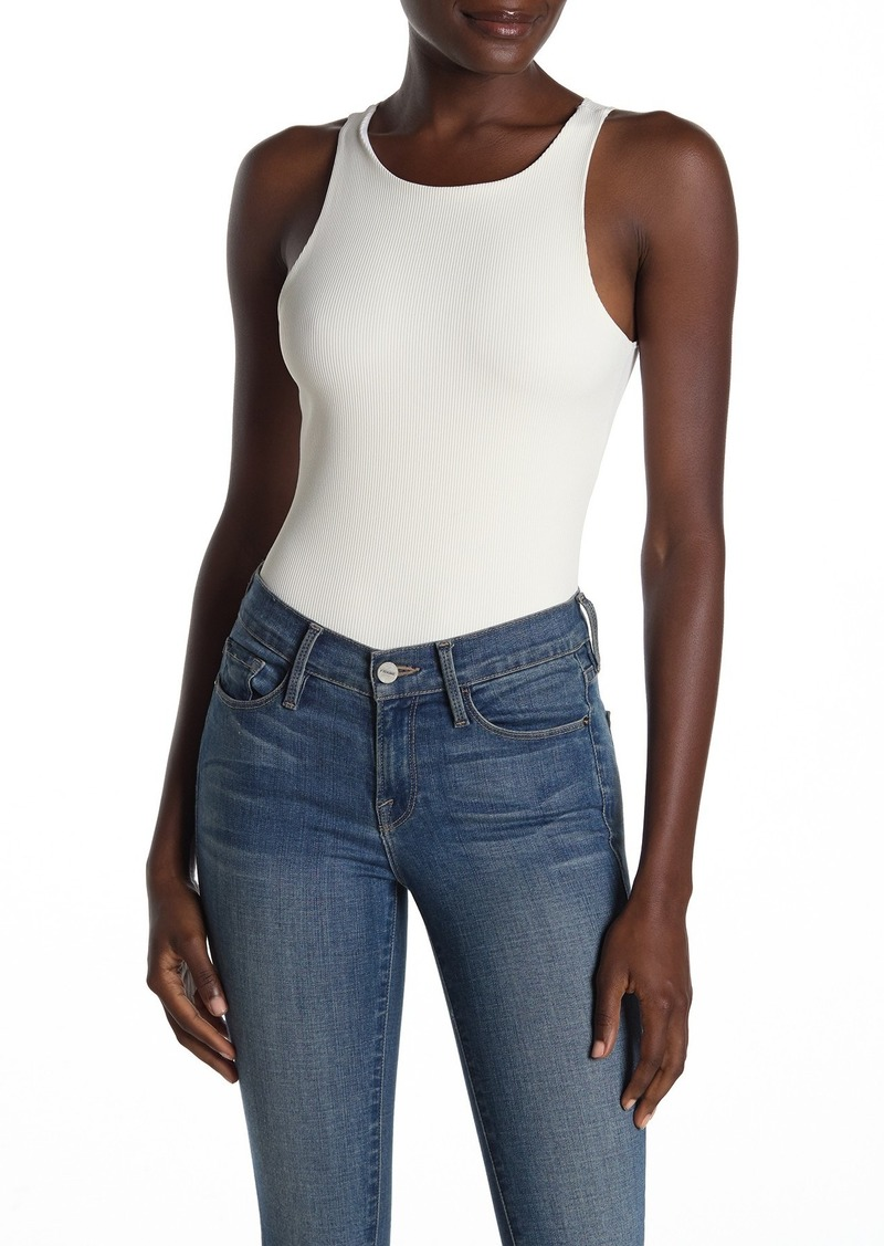 Good American Classic Ribbed Tank Bodysuit (Regular & Plus Size)