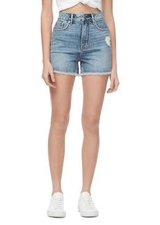Good American Bombshell Cutoff Denim Shorts in Blue276