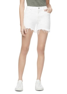 Good American Bombshell Denim Shorts in White012