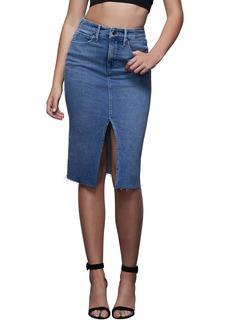 Good American Denim Pencil Skirt (Regular & Plus Size)