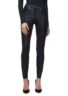 Good American Good Legs High Waist Skinny Jeans (Black 014) (Regular & Plus Size)