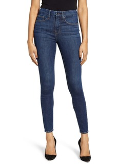 Good American Good Legs High Waist Skinny Jeans (Blue 500) (Regular & Plus Size)