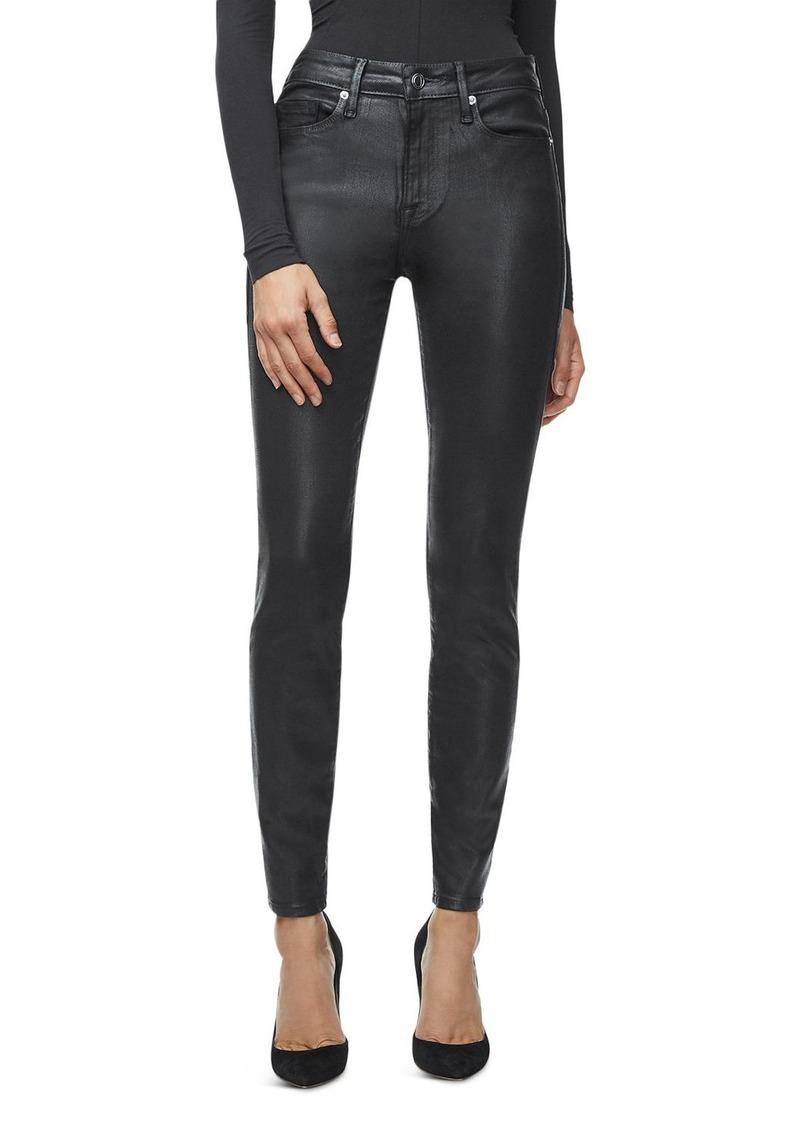 Good American Good Legs Leather-Like Pants in Black
