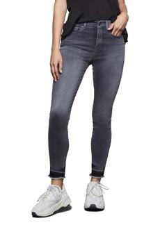 Good American Good Legs Raw Hem Crop Skinny Jeans