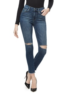 Good American Good Waist Crop Skinny Jeans in Blue302